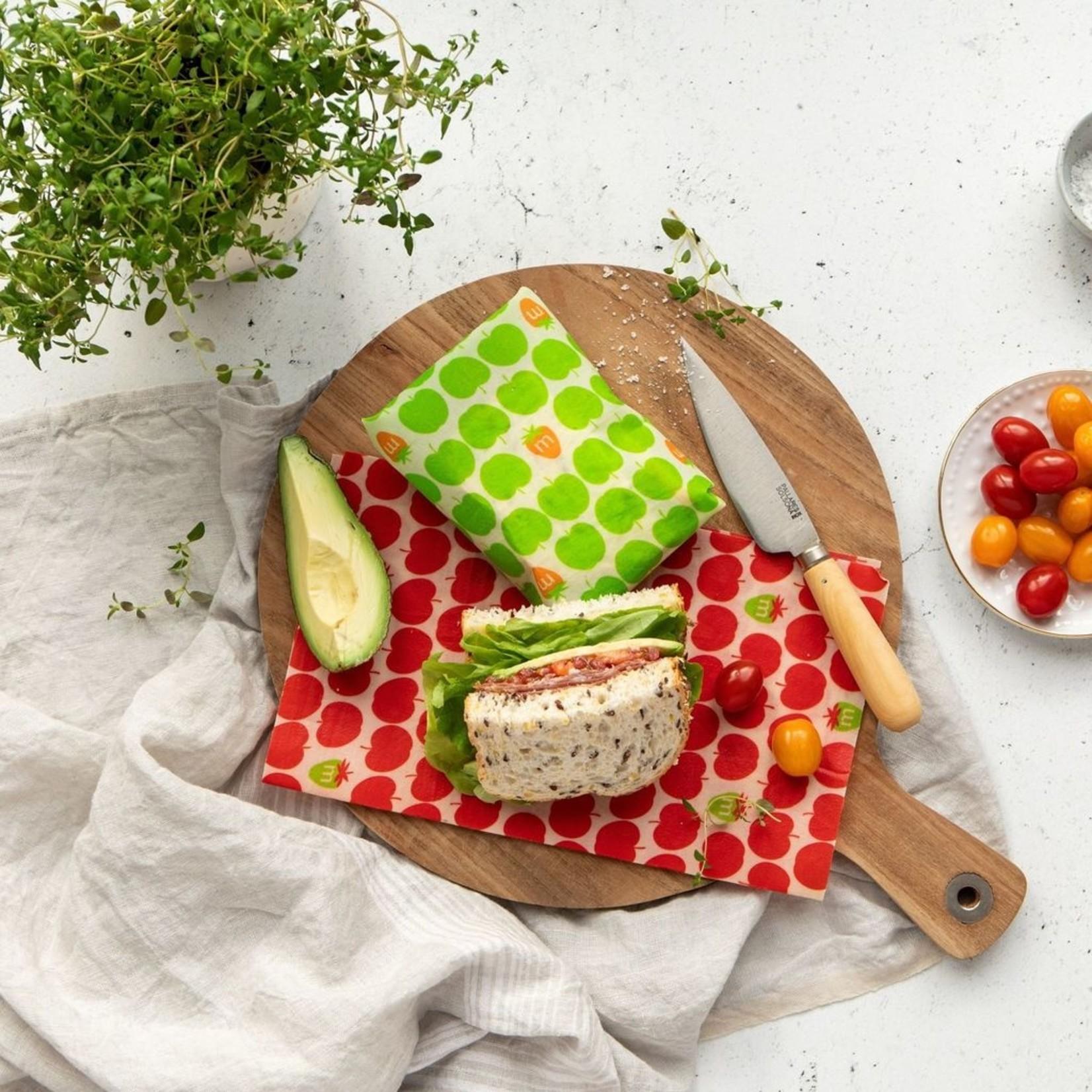Munch Munch Organic Food Wrap - Green Apples