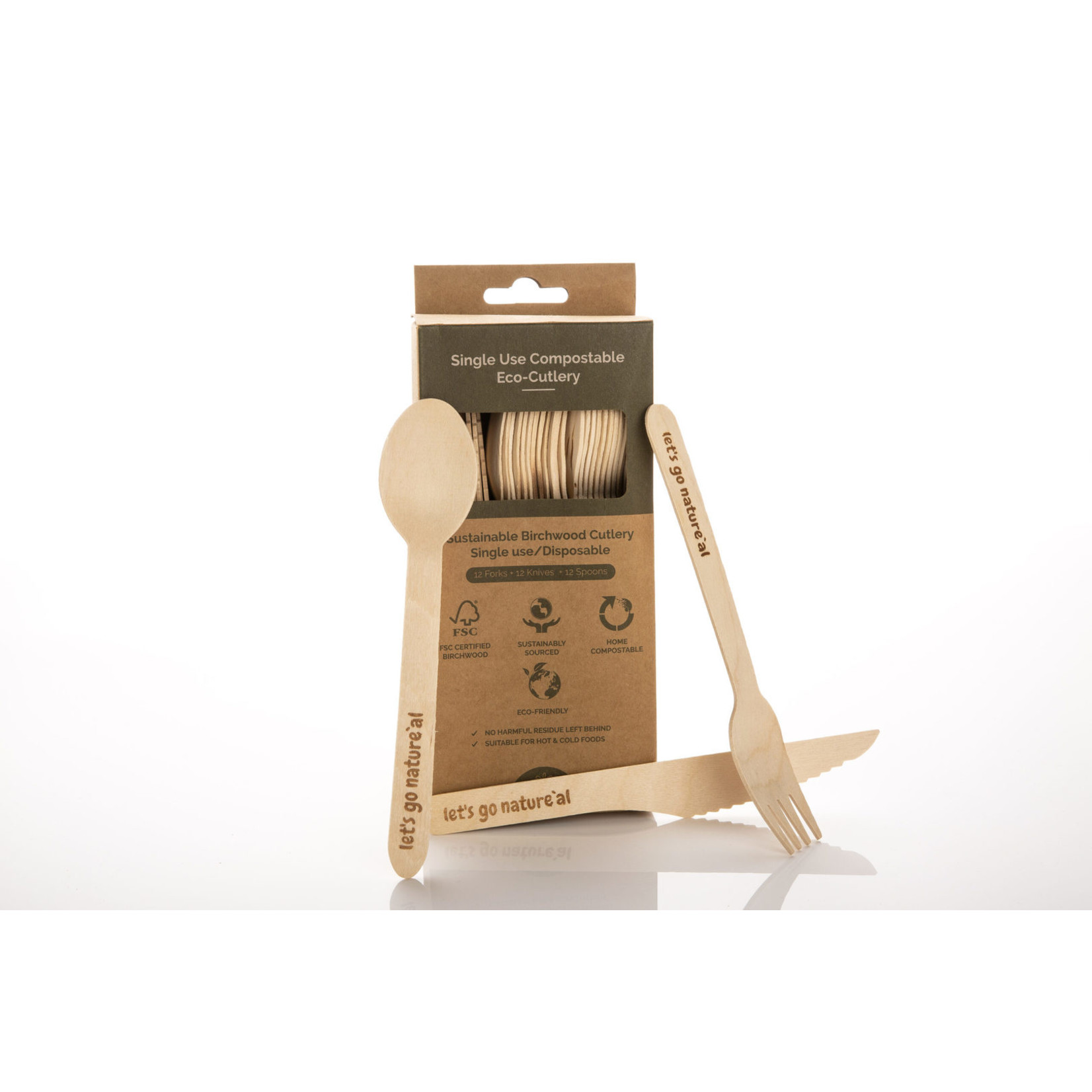 Let's Go Nature'al Let's Go Natureal Single Use Cutlery 36pk