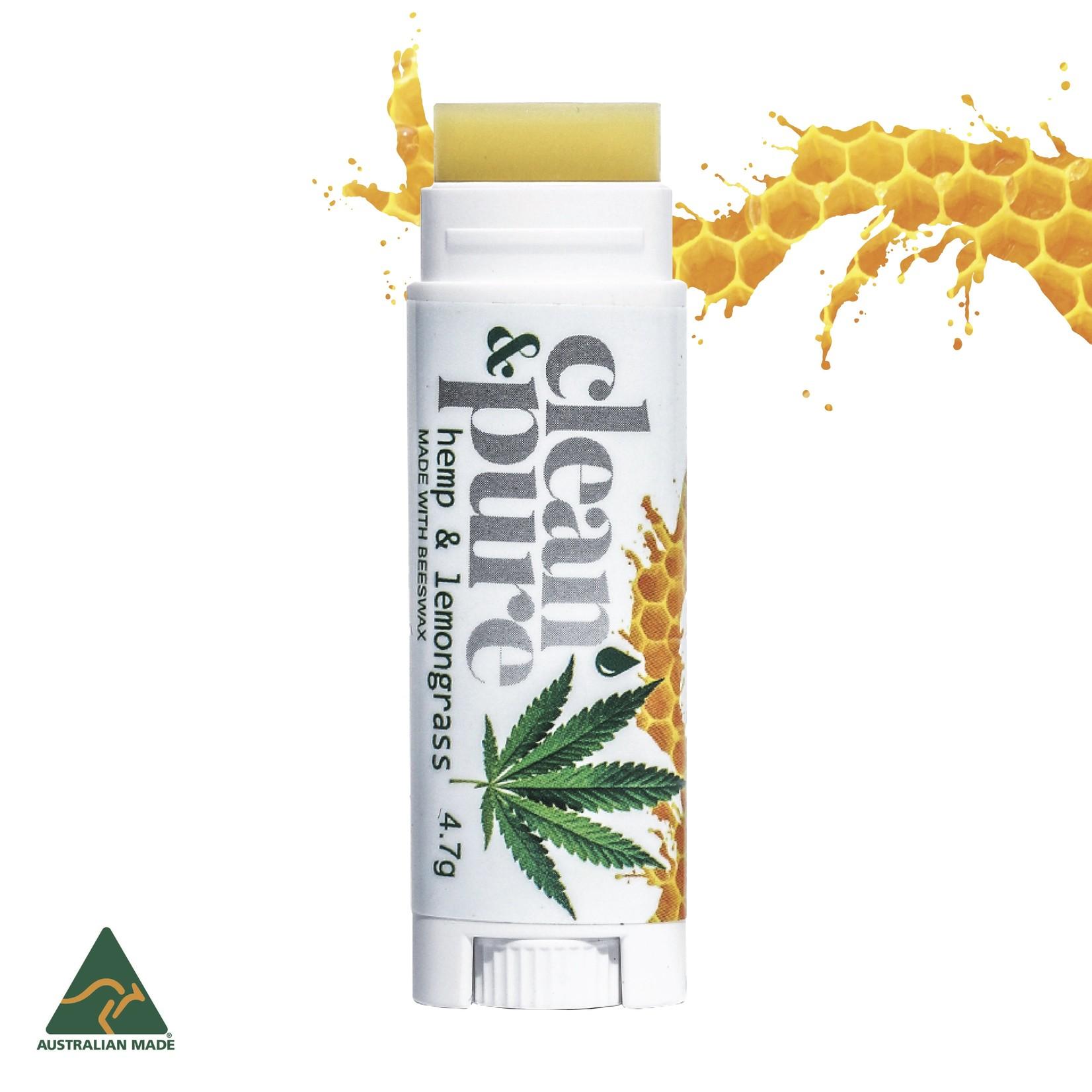 Clean & Pure Hemp & Lemongrass Lip Balm