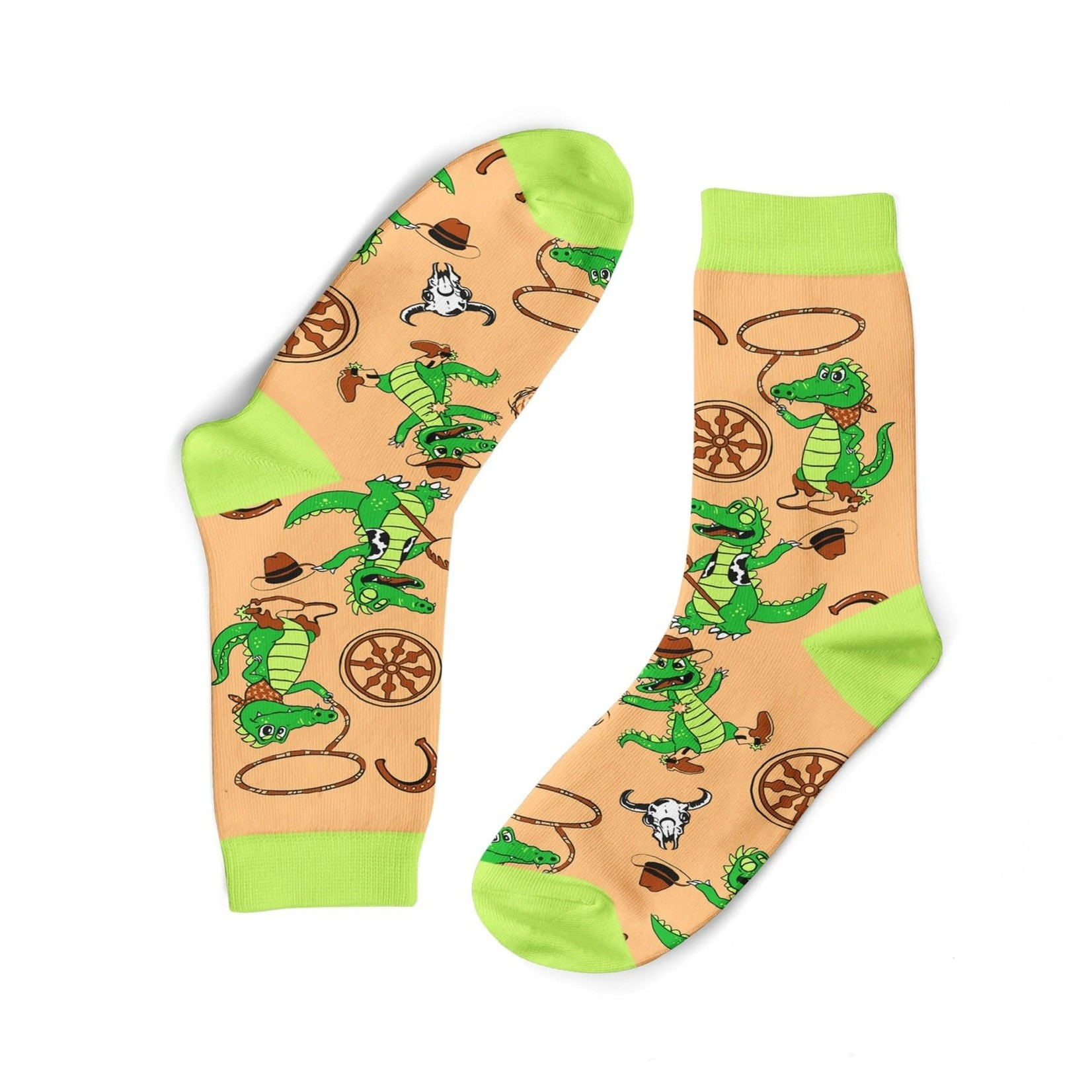 Funky Sock Co. Funky Sock Co. Bamboo Socks Cowboy Crocodiles