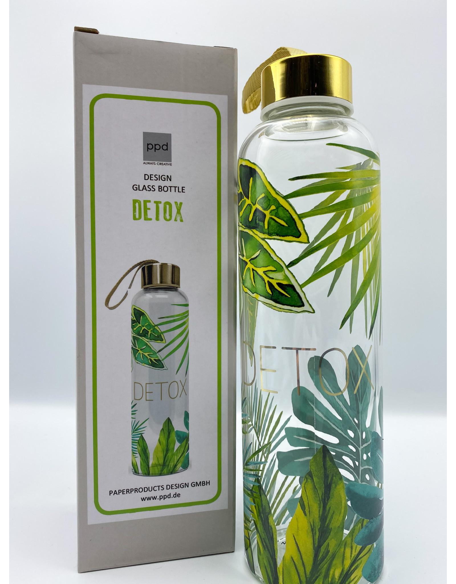 Detox Glass Water Bottle