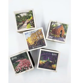 Cheekwood 4 Seasons Wooden Block