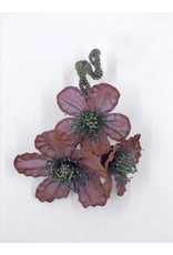 Magnetic Mesh Pin with Three Flowers