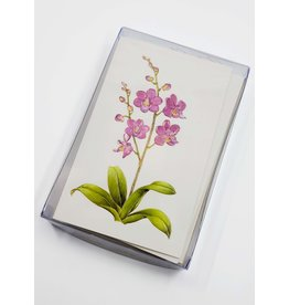 Paula Skene Designs Box of 8 Foil Orchid Cards