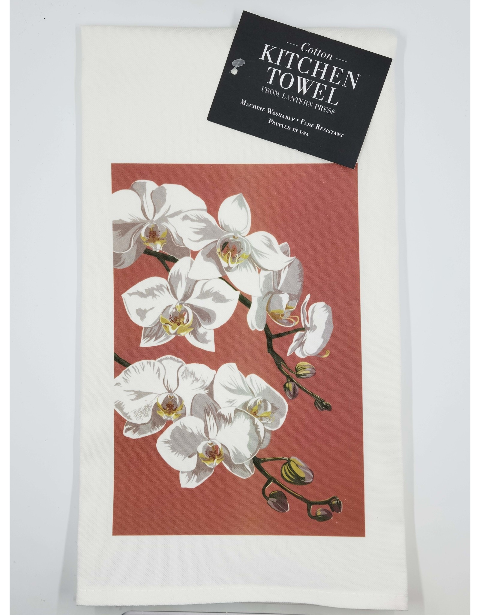 Lantern Press Orchid Tea Towel