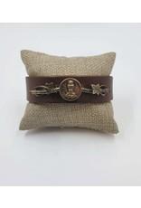 1800s CA Owl Leather Cuff Bracelet