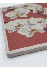 Lantern Press Orchid Letterpress Coaster
