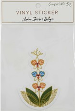 Amber Leaders Designs Vinyl Orchid Sticker