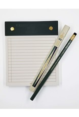 Ruled Black/Green Desktop Notepad