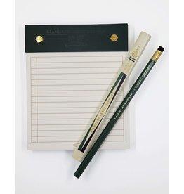 Ruled Black/Green Desktop Notepad