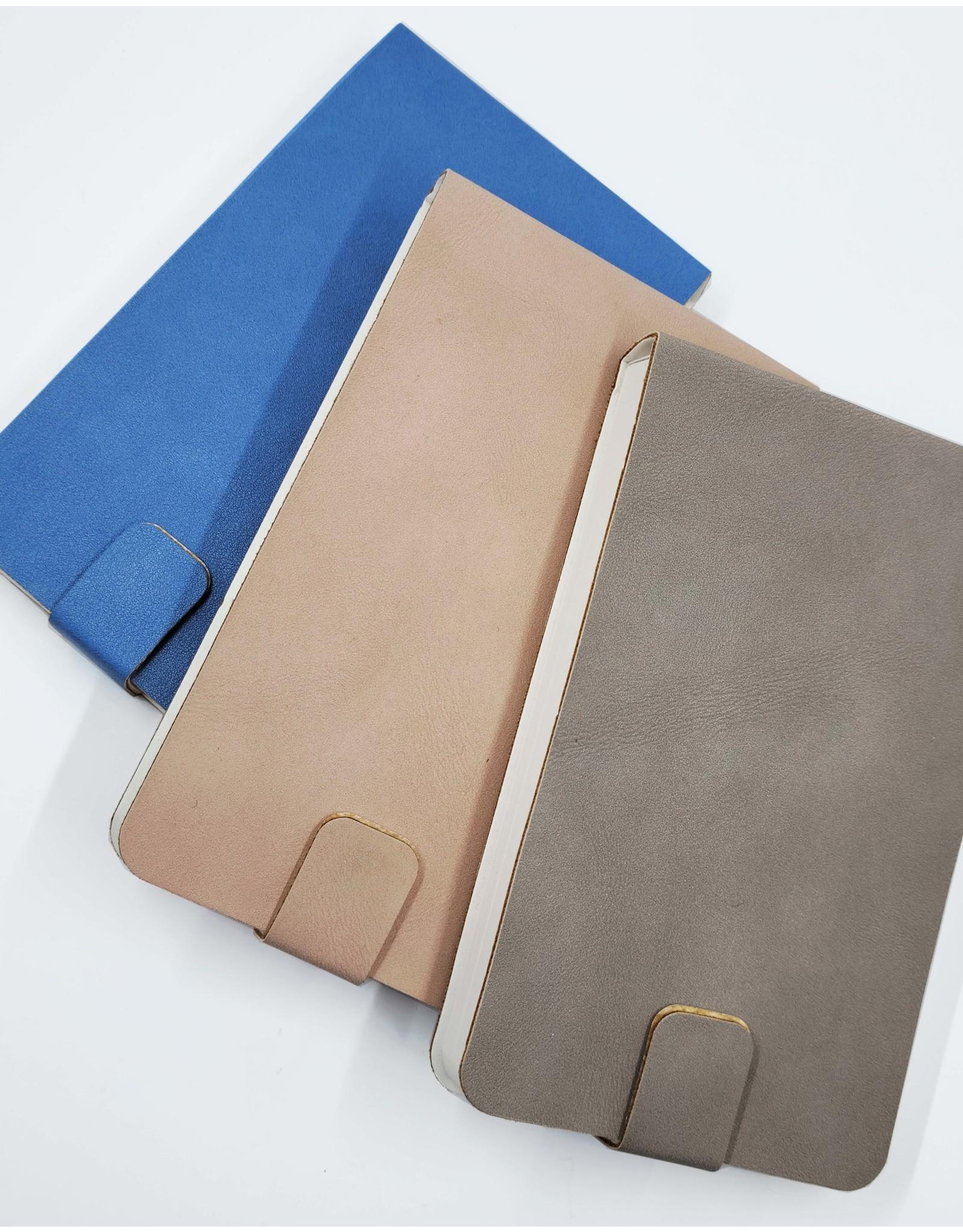 Vegan Leather Ruled Flip Notepad