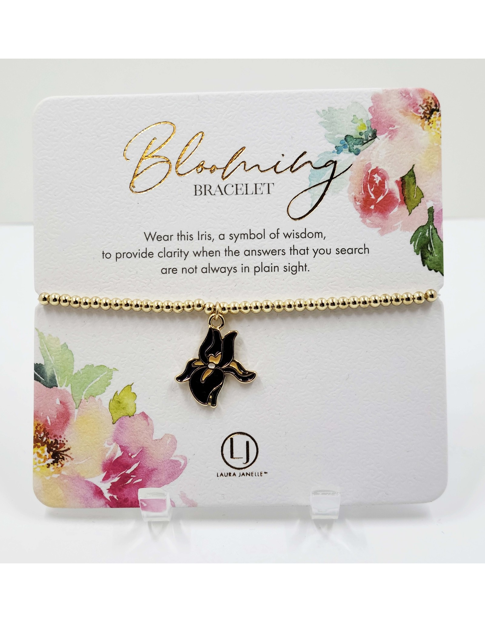 Stretch Gold Bead Charm Bracelet - Assorted