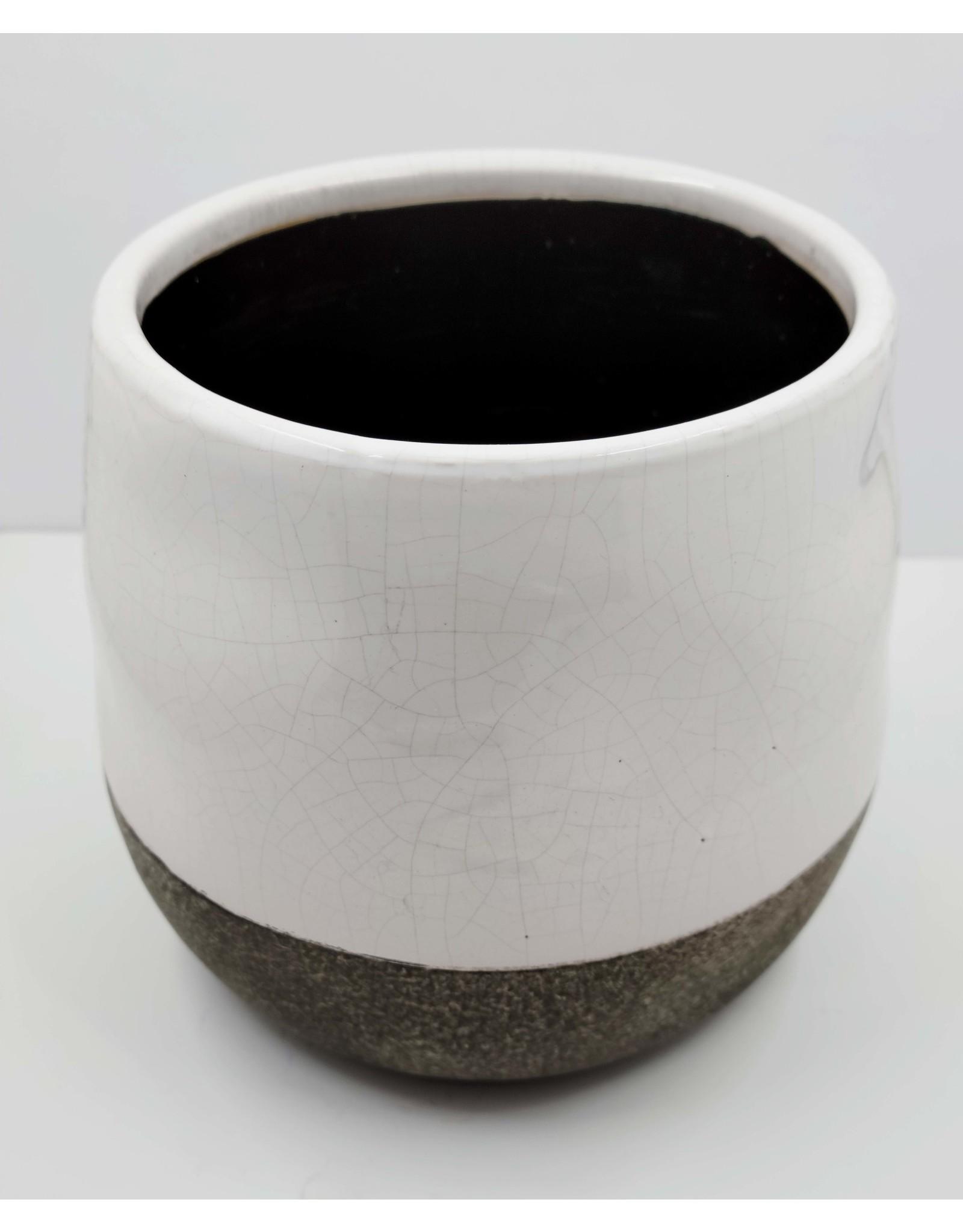 Two Toned Circular Ceramic Pot