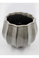 Grooved Lotus Ceramic Pot