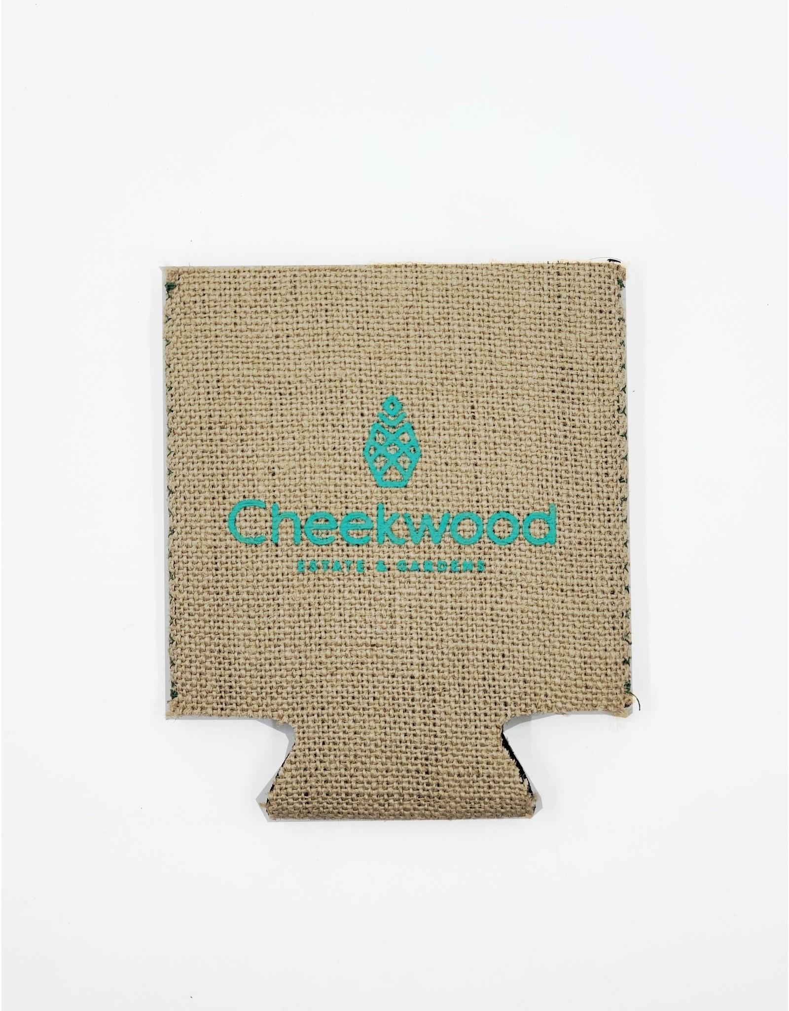 Cheekwood Burlap Koozie