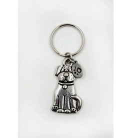 Metal Dog Keychain