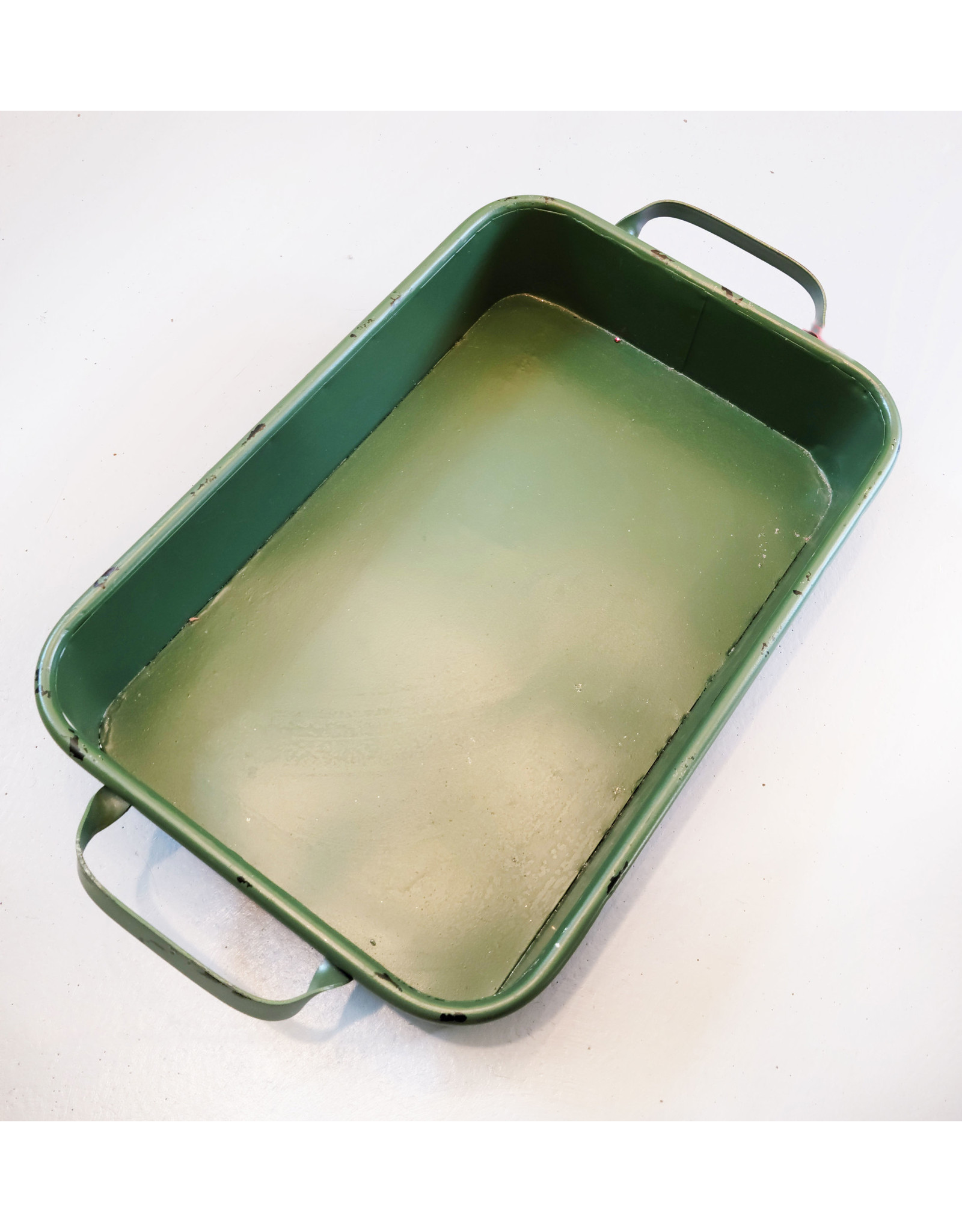 Green Metal Tray