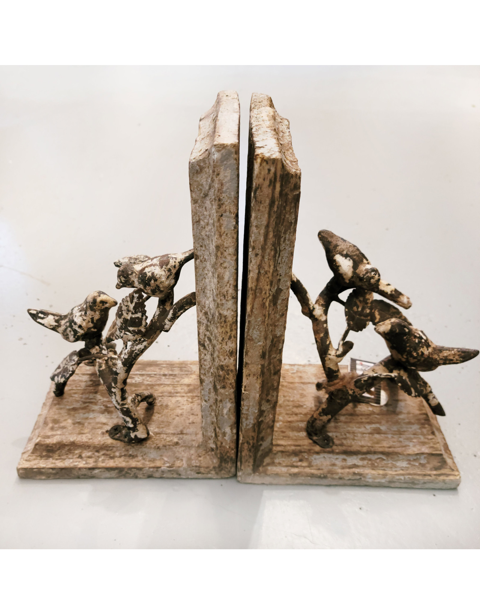 One Hundred 80 Degrees Distressed Bird Bookends