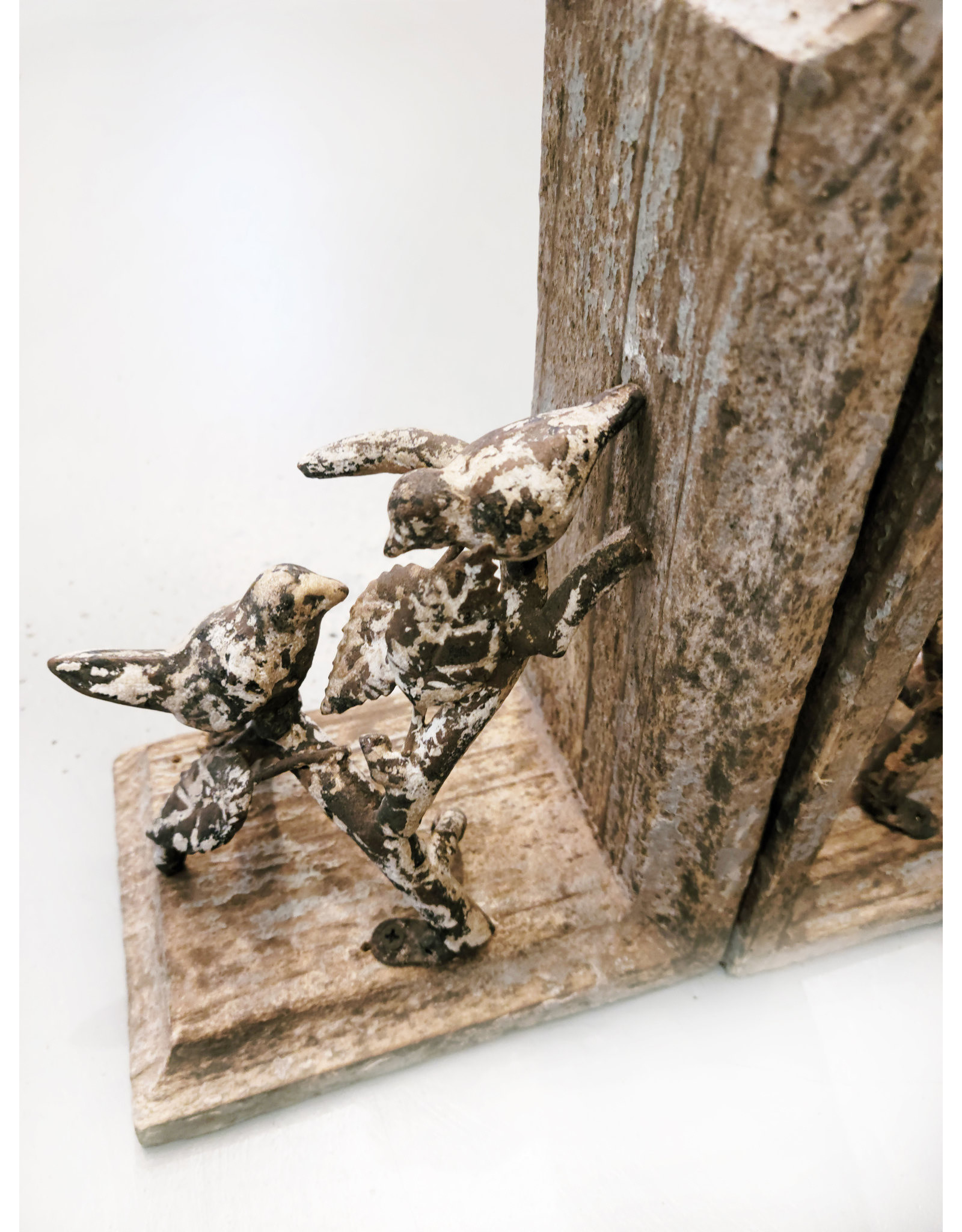 One Hundred 80 Degrees Distressed Bird Bookends (Set of 2)