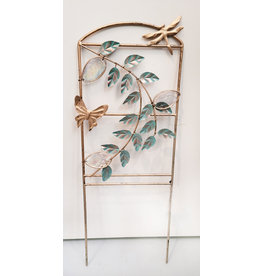 Dragonfly and Glass Garden Stake Panel
