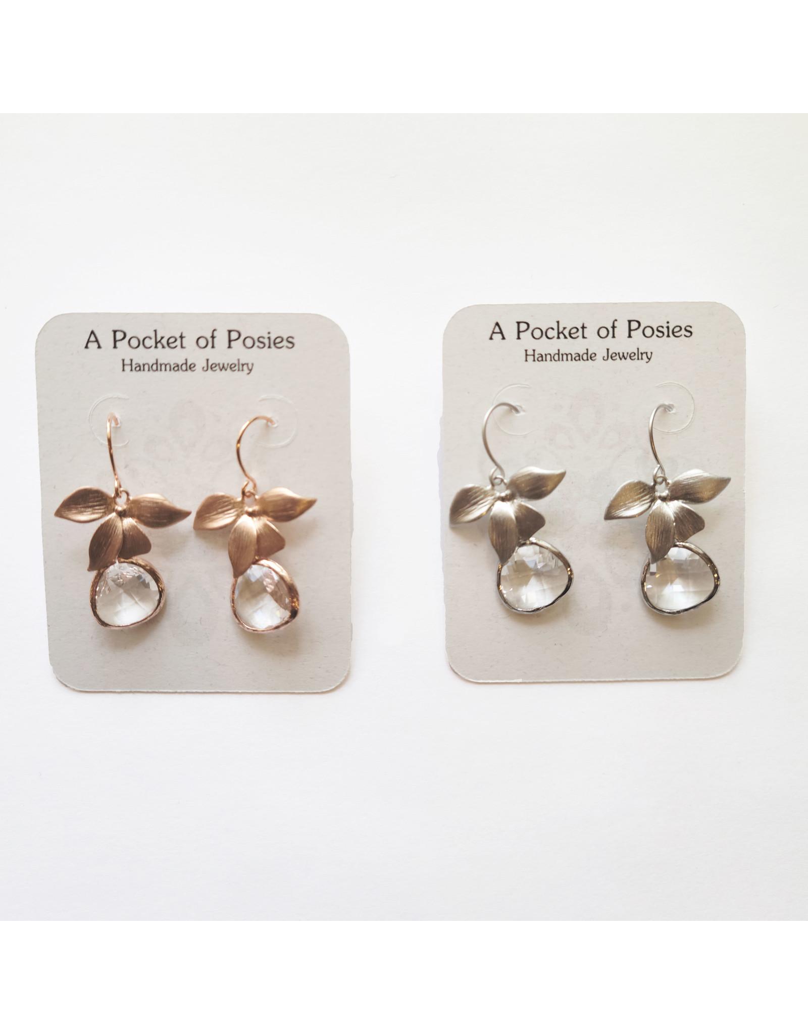 A Pocket of Posies POP Glass Drop Orchid Earrings
