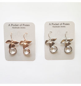 A Pocket of Posies POP Glass Drop Orchid Earrings