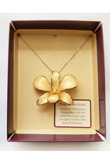 Gold Trimmed Orchid Chain Necklace