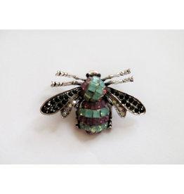 Rhinestone Bee Pin