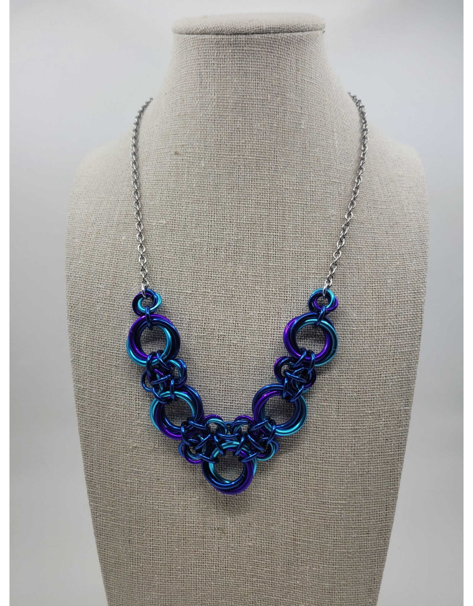 Rebeca Mojica Chainmaille Knotted V Necklace