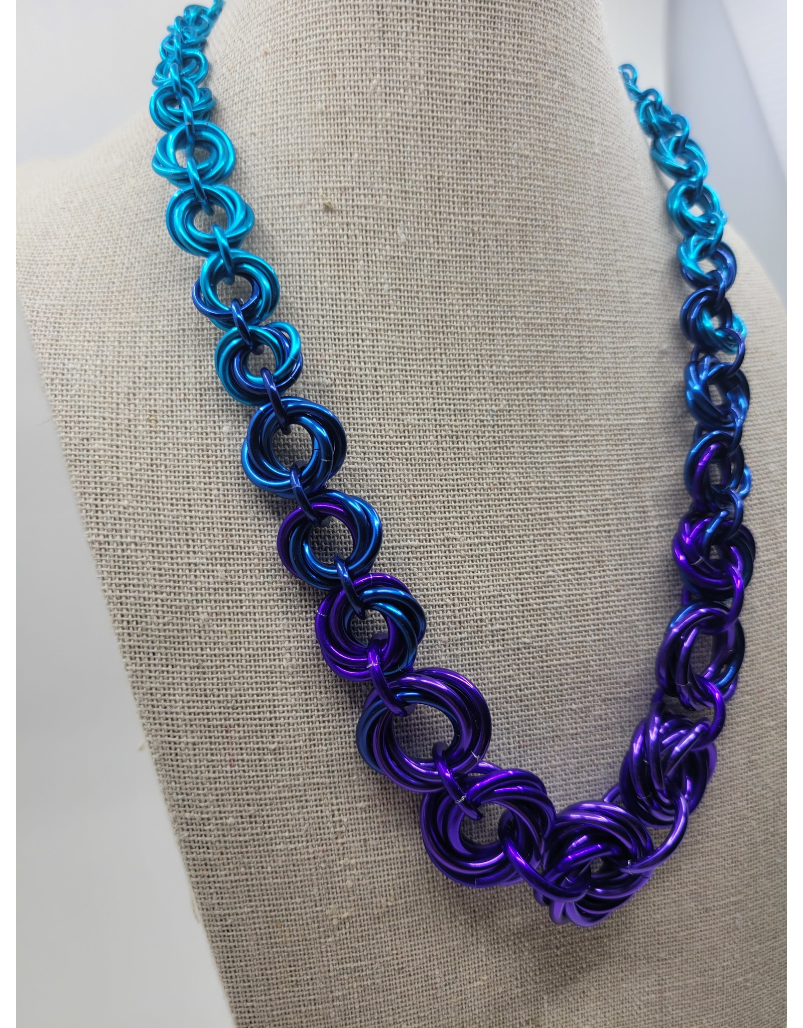 Rebeca Mojica Chainmaille All Around Knot Necklace