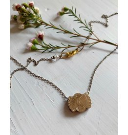 Victorian Gold Fob Detail Necklace