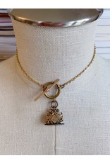 Victorian Gold Wax Detail Necklace