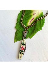 Vintage Painted Knife Necklace