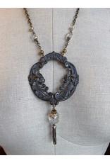 Art Nouveau Buckle and Tassel Necklace