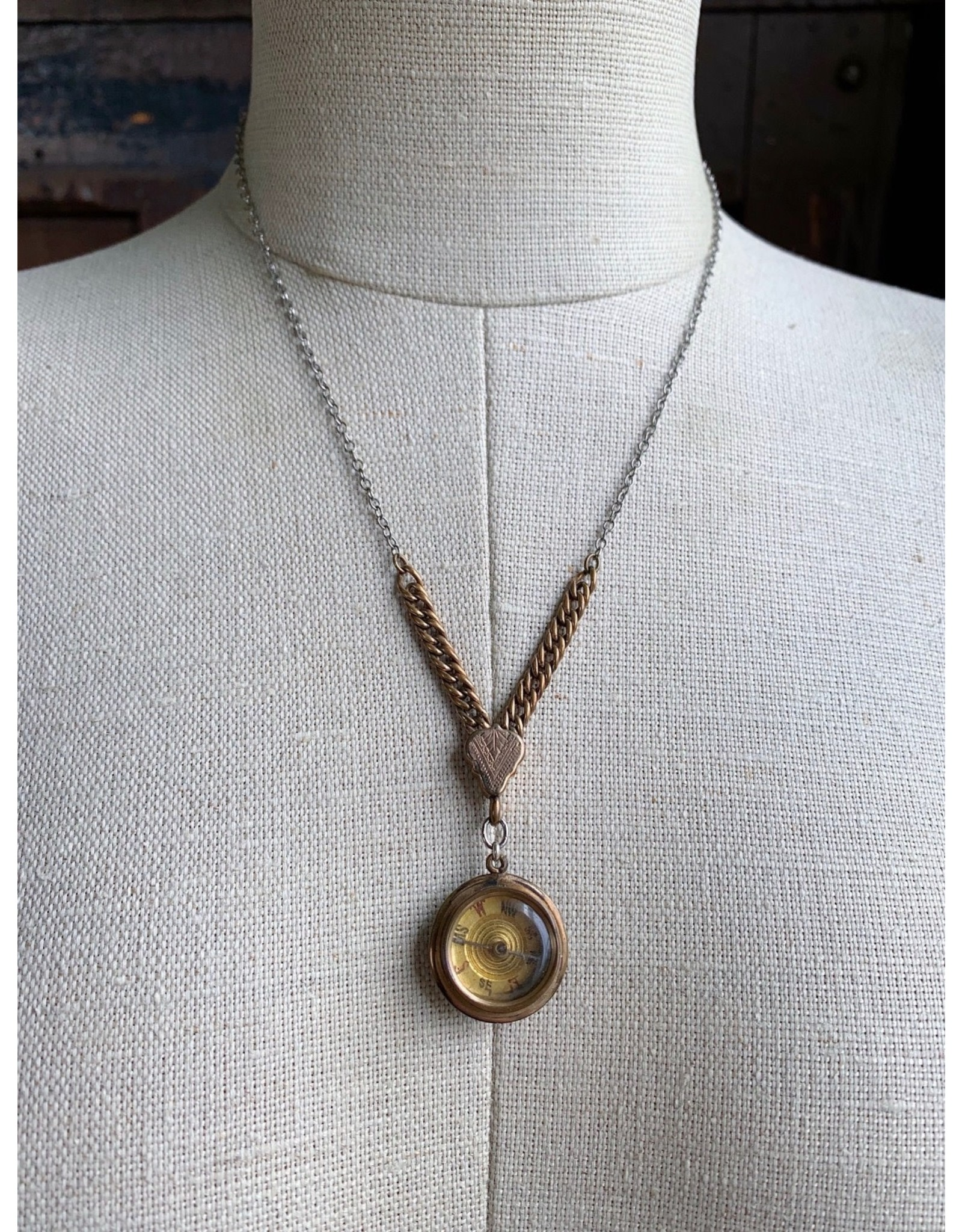 Victorian Jade Compass Necklace
