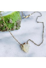 Mother of Pearl Perfume Vial Necklace