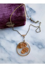 Victorian Dried Clover Locket Necklace