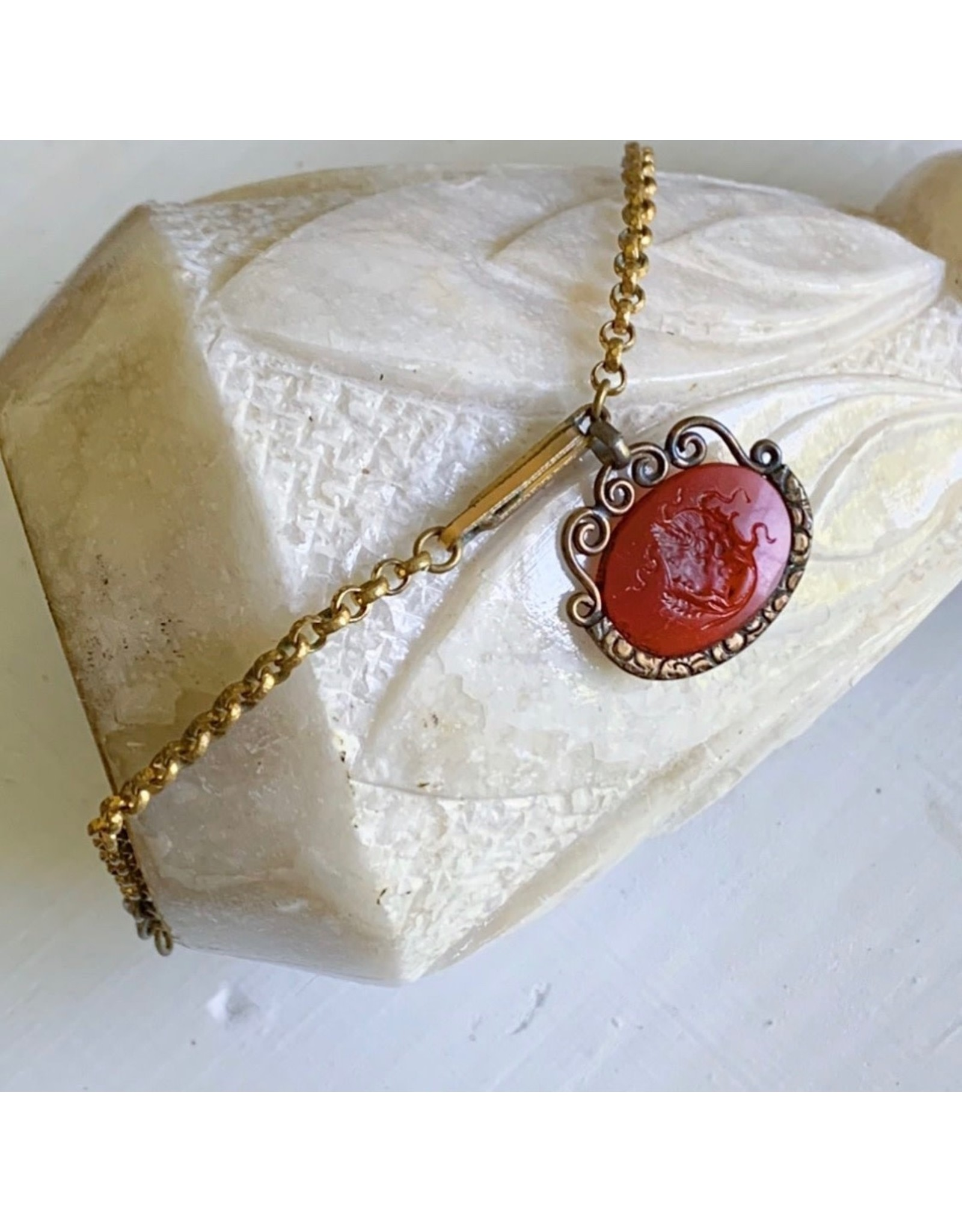 Intaglio Medusa Fob Bracelet
