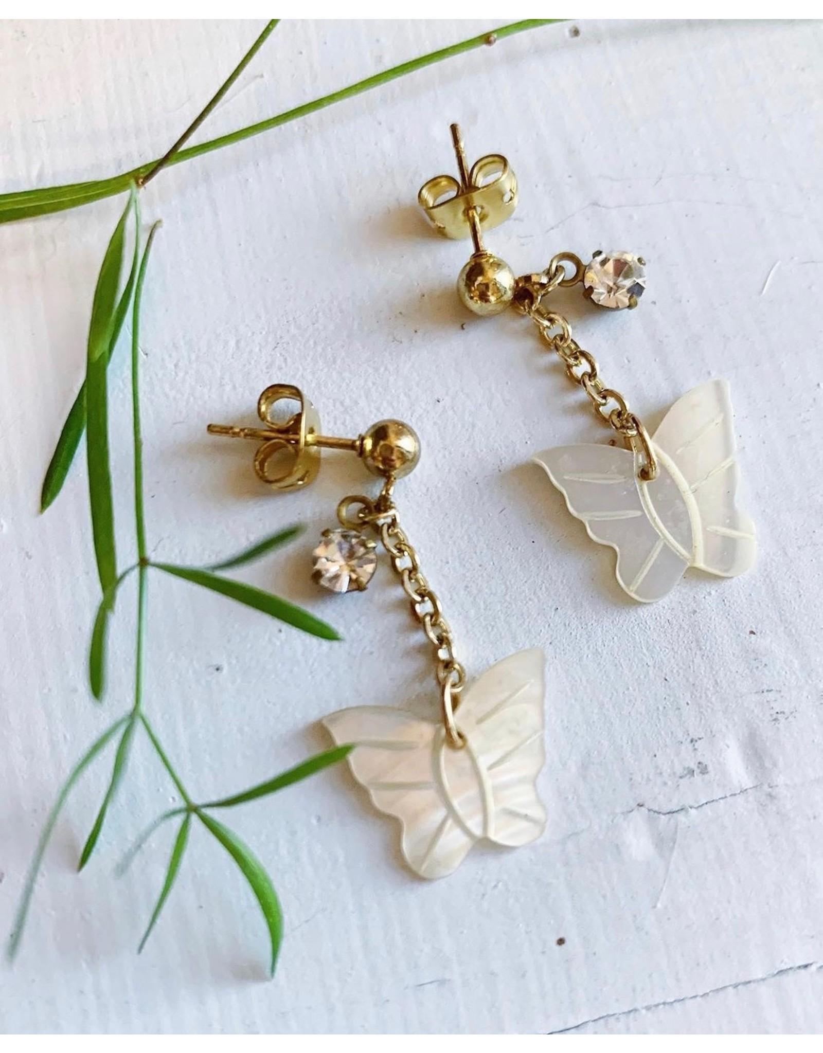 Mother of Pearl Butterflies Earrings