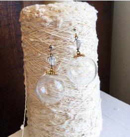 Vintage Glass Blown Globes Earrings