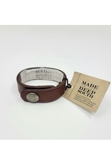 1960s KY Horse Leather Cuff Bracelet