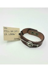 1950s VA Horse Leather Cuff Bracelet