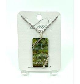 D'Ears Monet Water Lillies Necklace
