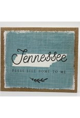 Sincere Surroundings Tennessee Home Burlap Canvas