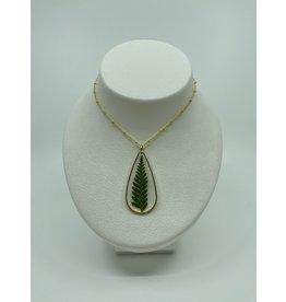 S&S Fern Teardrop Necklace