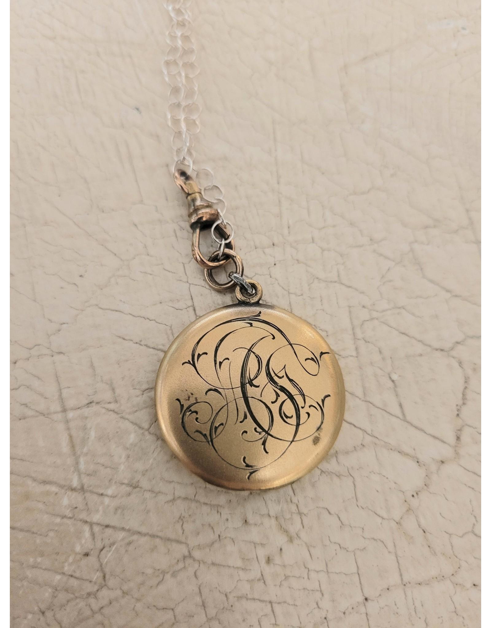 Vintage Rhinestone Star Locket Necklace