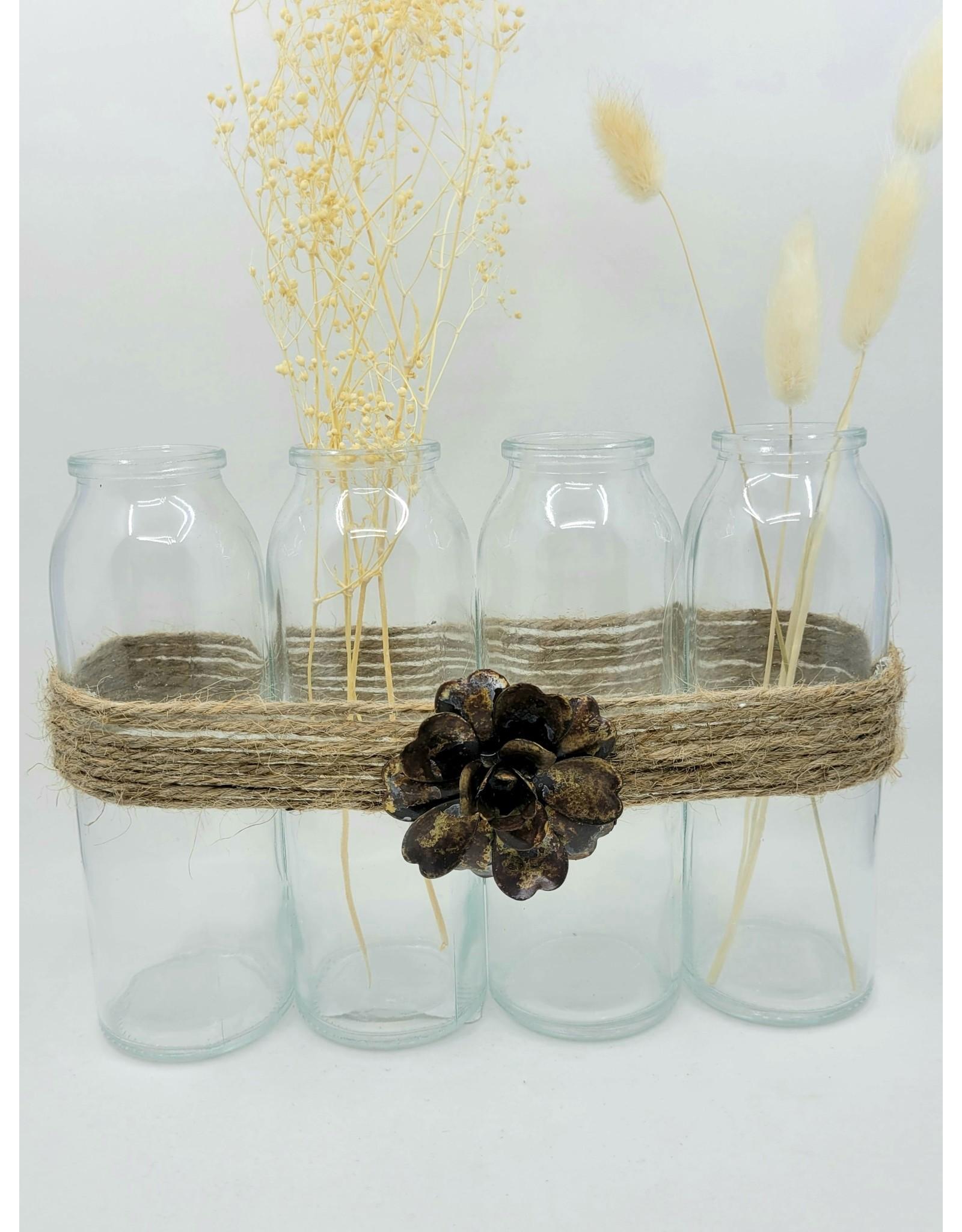 Jute String Quad Vase