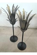 Brass Lily Candleholder