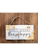 Sincere Surroundings Bee Happy Hanging Block Sign