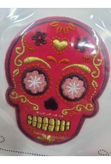 Sugar Skull Stick-On Patch